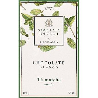 Jolonch Chocolate blanco con té matcha y menta Tableta 100 g