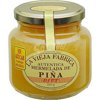 La Vieja Fábrica mermelada de piña sin azúcar frasco 340 g