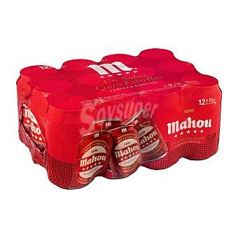 Mahou Cerveza rubia especial 5 estrellas Pack 12 x 33 cl