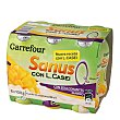 Yogur líquido Sanus sabor mango 0% + l.casei 6 unidades de 100 g Carrefour