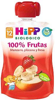 HiPP Biológico Hipp Bolsita Fresa, Plátano y Manzana 90 g