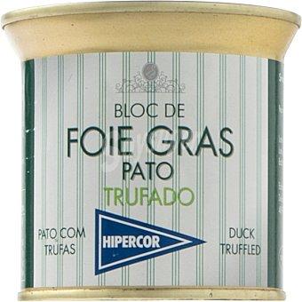 Hipercor Bloc de foie gras pato trufado lata 200 g Lata 200 g