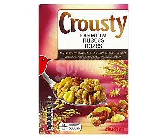 Auchan Cereales muesli con nueces Crousty 500 gr