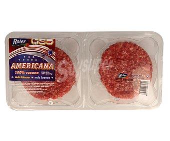 Roler Burger meat americana 100% vacuno 2 unidades de 150 gramos