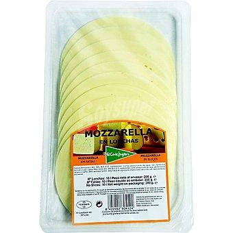 El Corte Inglés Queso mozzarella en lonchas Envase 200 g