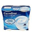 Yogur cremoso natural azucarado Pack 4x125 g Carrefour