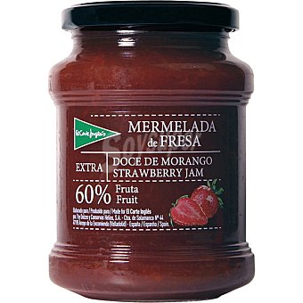 EL CORTE INGLES Mermelada de fresa extra 60% fruta Tarro de 410 g