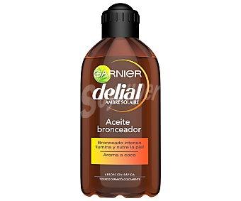 Delial Garnier Aceite bronceador intenso al aroma de coco factor de protección 2 Bote de 200 ml