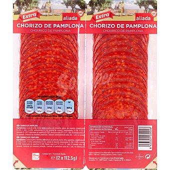 Aliada Chorizo de Pamplona extra en lonchas envase 225 g Pack 2x112,5 g
