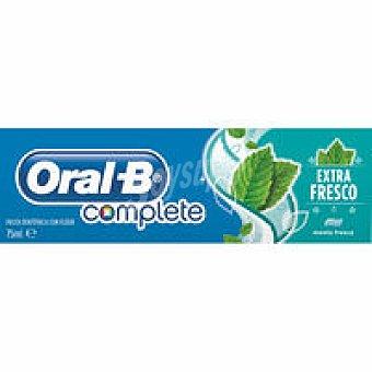 ORAL-B Dentífrico Complete extra blanco de menta tubo 75 ml