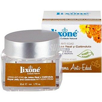 Lixone Cuidado natural crema anti-edad de jalea real y caléndula piel sensible Tarro 50 ml