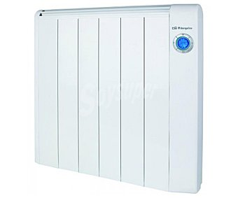 ORBEGOZO RRE1000 Emisor térmico seco Potencia max: 1000w, 6 elementos, termostato, programable, pantalla digital, mando a distancia