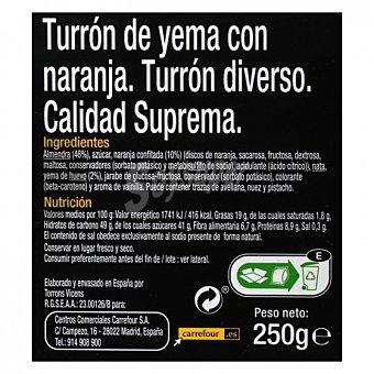 Carrefour Selección Turrón de yema con naranja sin gluten 250 G 300 g