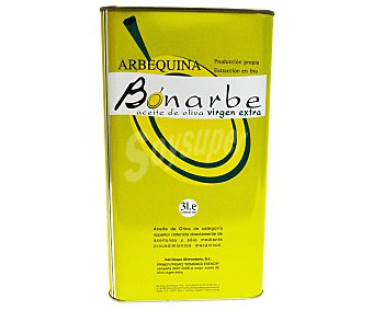 BONARBE Aceite de oliva virgen Extra Lata de 3 Litros