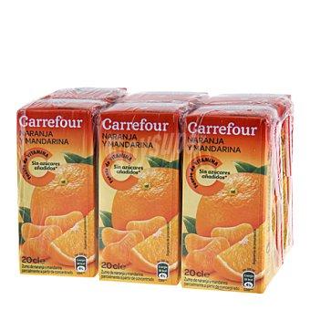 Carrefour Zumo naranja y mandarina Pack 6x20 cl
