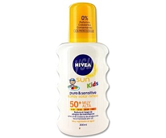 NIVEA Sun Kids Spray Solar Sensitive. Factor de Protección 50 200 Mililitros