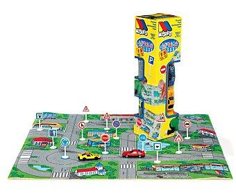 MOLTO Tapiz circuito en caja con 2 coches y 12 señales de tráfico moltó 1 unidad