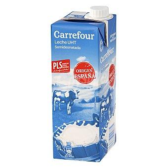 Carrefour Leche semidesnatada Brik de 1 L