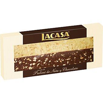 Lacasa Turrón praliné de nata y chocolate Tableta 250 g