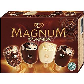 FRIGO MAGNUM Manía Bombones surtidos doble caramelo, classic, blanco, almendra 8 unidades (940 ml)