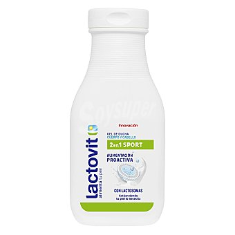 Lactovit gel de baño cuerpo y cabello 2 en 1 con doble de vitaminas y proteínas de la leche Bote 250 ml