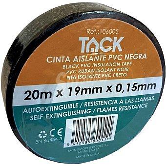 TACK Cinta aislante negra 20 m x 19 mm