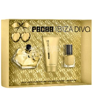 Pachá Ibiza Estuche de colonia spray 80 ml. + body lotion 100 ml.+ laca de uñas Diva 1 ud