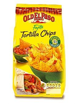 OLD EL PASO Tortillas chips fajita bolsa 185 g