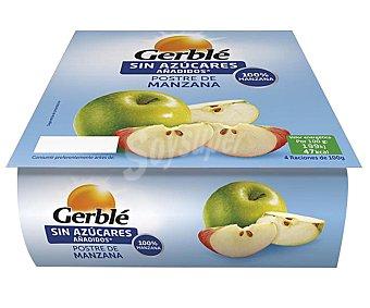 Gerblé Compota de manzana Pack 4 u x 100 g