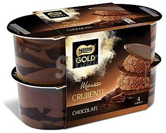 Gold Nestlé Mousse crujiente de chocolate Pack 4 uds x 57 g