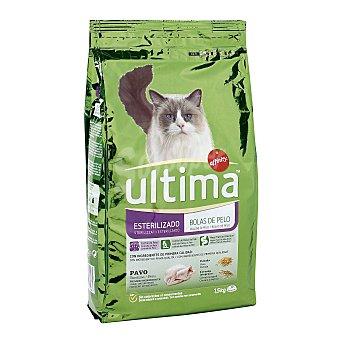 Ultima Affinity Pienso para gatos esterilizados de pavo y cebada control bolas de pelo Saco 1.5 kg