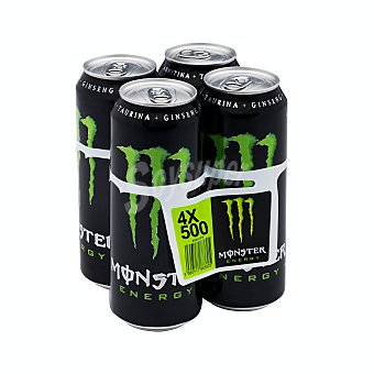 Monster Energy Bebida energetica green Pack 4 x 500 ml - 2000 ml