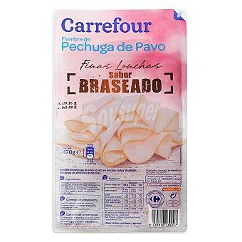 Carrefour Pechuga de pavo braseada finas lonchas 170 g