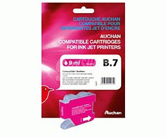 Auchan Cartucho B7 Magenta 1 Unidad - Compatible con Impresoras: Brother DCP-130C / 135C / 150C / 153C / 155C / 157C / 330C / 350C / 353C / 357C / 540CN / 560CN / 750CW / 770CW、MFC- / 235C / 240C / 260C / 440CN / 465CN / 660CN / 665CW / 680CN / 845CW / 3360C / 5460CN / 5860CN、 1u