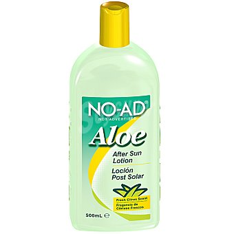 NO-AD After sun loción Aloe para después del sol fragancia de cítricos frescos Frasco 500 ml