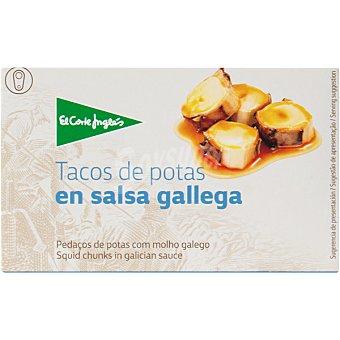 El Corte Inglés Tacos de potas en salsa gallega  lata 67 g neto escurrido