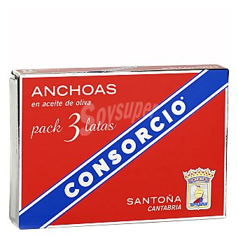 Consorcio Anchoas en aceite de oliva 87 g