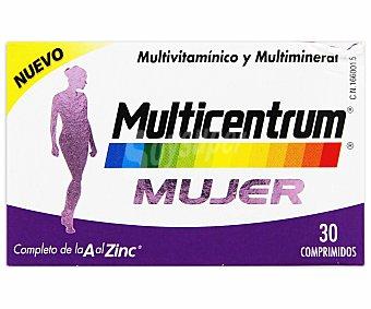 MULTICENTRUM Mujer Complemento alimenticio multivitamínico y multimineral, 30 Comprimidos