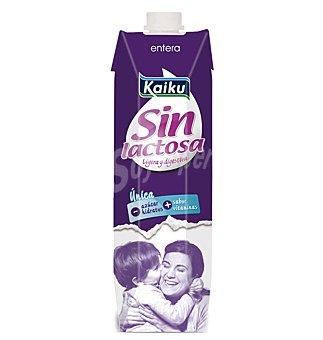 Kaiku Leche Entera Sin Lactosa Brik 1 litro