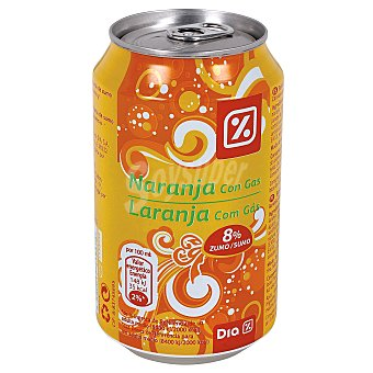 DIA Naranja con gas Lata 33 cl