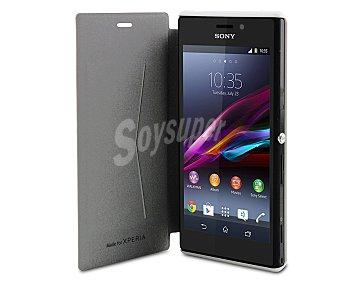 Made for xperia Funda con tapa Ultra slim, blanca, compatible con Sony Xperia M2. (teléfono no incluido)