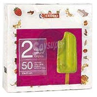 Eroski Servilletas infantiles 2 capas 33x33 Paquete 50 unid