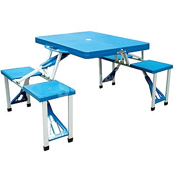 RUNFIT Maletín mesa Pic-nic en color azul