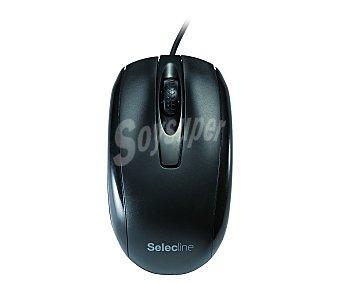SELECLINE Ratón óptico con cable (producto económico alcampo) 855246, conexión Usb, color negro