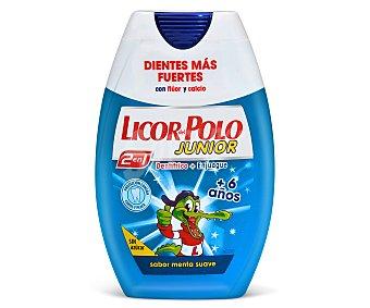 Licor del polo Dentífrico junior 2en1 de menta Bote 75 ml