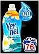 Suavizante concentrado frescor aguamarina Botella 76 lavados Vernel