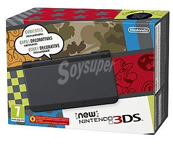 Nintendo Nueva consola Nintendo 3Ds, color negro. Incluye mejoras como Nfc para conectar Amiibo 1 unidad