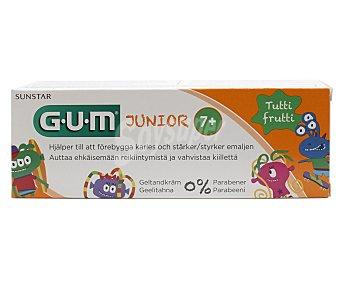 GUM Dentífrico con flúor con sabor a Tutti frutti, para niños de + de 7 años junior 75 ml