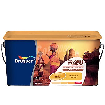 BRUGUER India Natural Pintura plástica mate para interior Colores del Mundo 4 l
