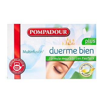 Pompadour Multinfusión duerme bien (mezcla de plantas naturales) 20 uds